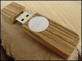 USB stick 'Face' of Zebrawood